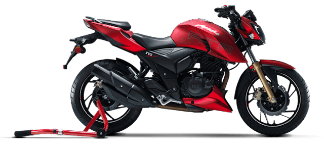 TVS-Apache-RTR-200-V4-Red-Side