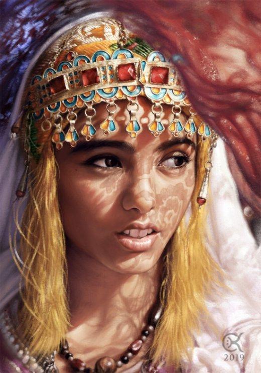 Chalky Nan artstation arte ilustrações fantasia mulheres