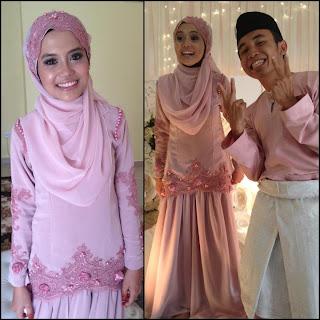 idea baju tunang dusty pink