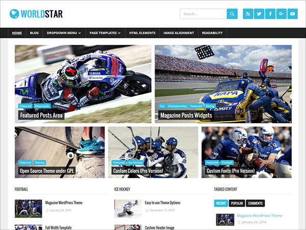 Best, Newest and Free Magazine WordPress Themes