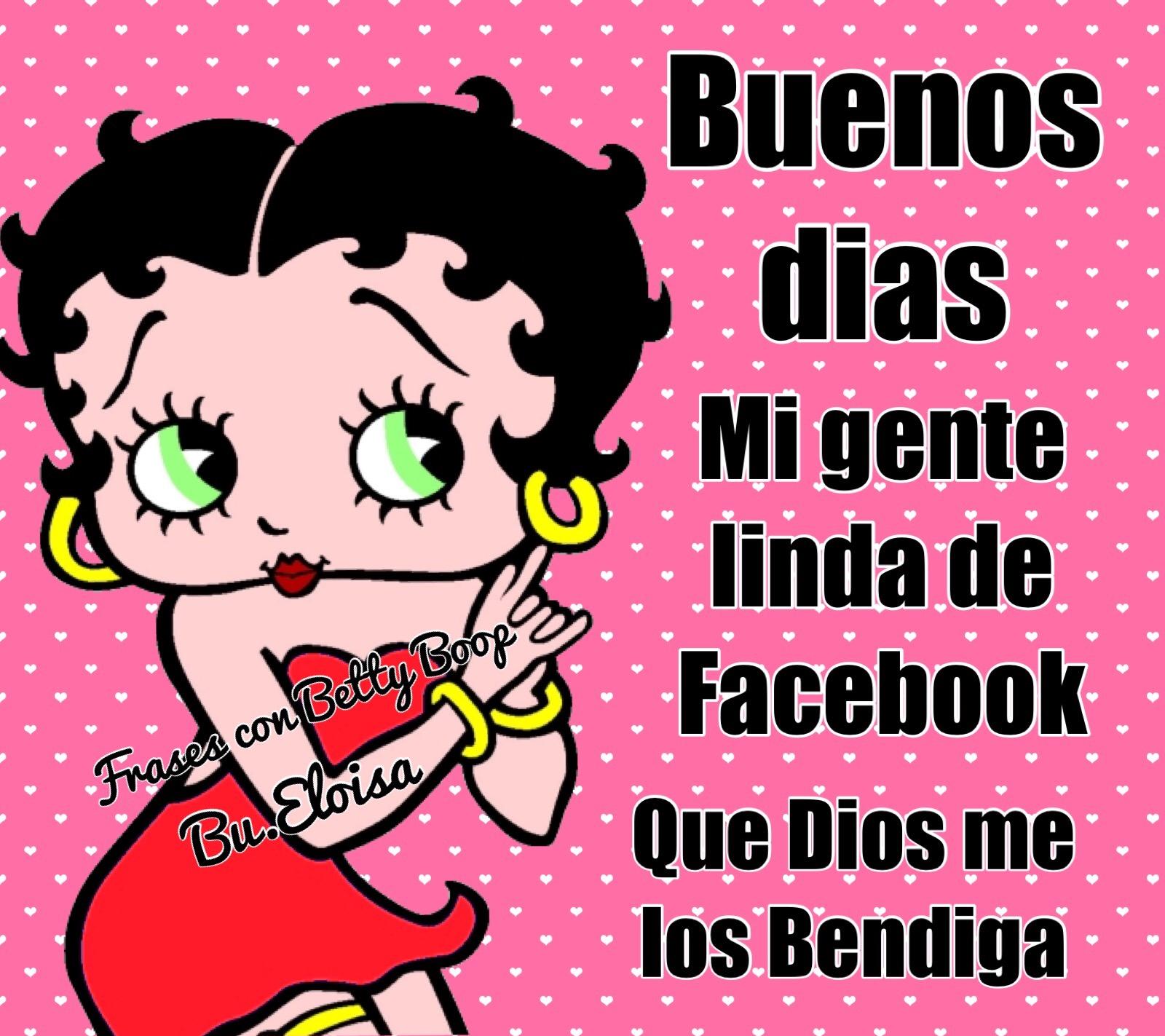 Betty Boop Buenos Dias