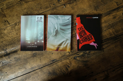 Images of Virgina Woolf and Angela Carter books
