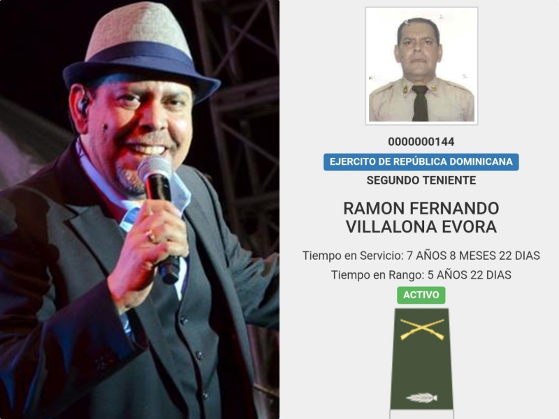 Fernando Villalona es ascendido a Primer Teniente