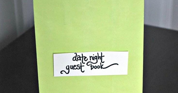 DIY Date Night Guest Book