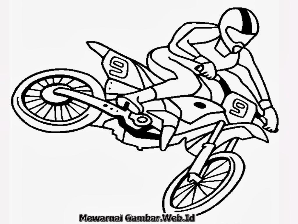 Mewarnai Gambar Sepeda Motor  Mewarnai Gambar