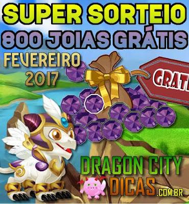 Super Sorteio de 800 Joias Grátis - Fevereiro 2017