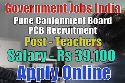 Pune Cantonment Board Recruitment 2018