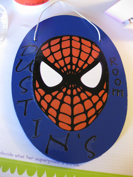 Eva' Scraps ' Cards Spiderman Plaque
