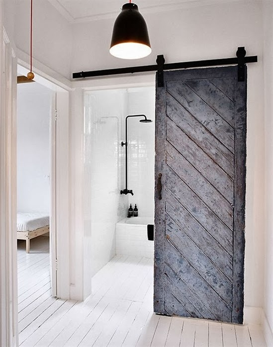 Lee caroline a world of inspiration space saving ideas - Bathroom door ideas for small spaces ...
