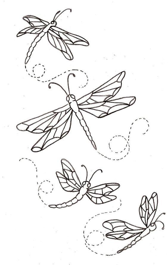 Tranh tô màu con chuồn chuồn các dáng bay