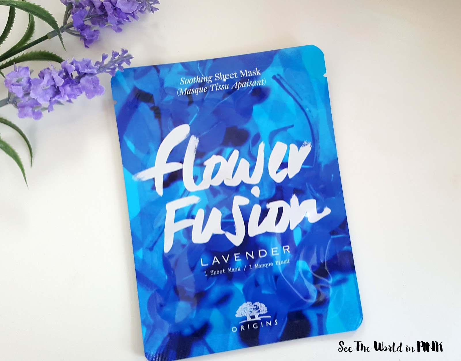 Mask Wednesday - Origins Flower Fusion Lavender Soothing Sheet Mask Review