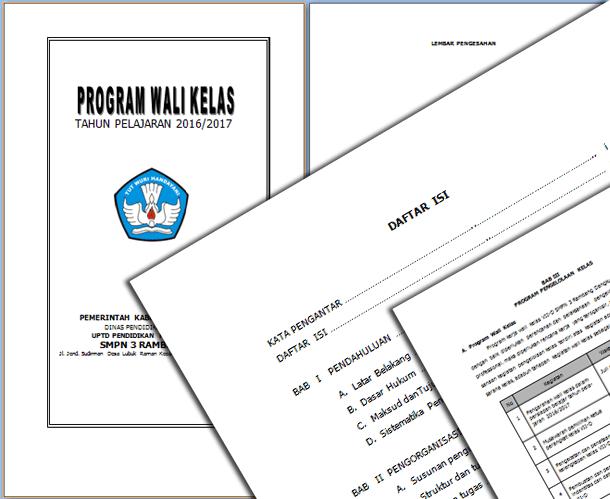 File Pendidikan Contoh Program Kerja Wali Kelas Tahun Pelajaran 2016-2017
