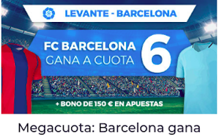 Paston Megacuota Liga Santander: Levante vs Barcelona 13 mayo