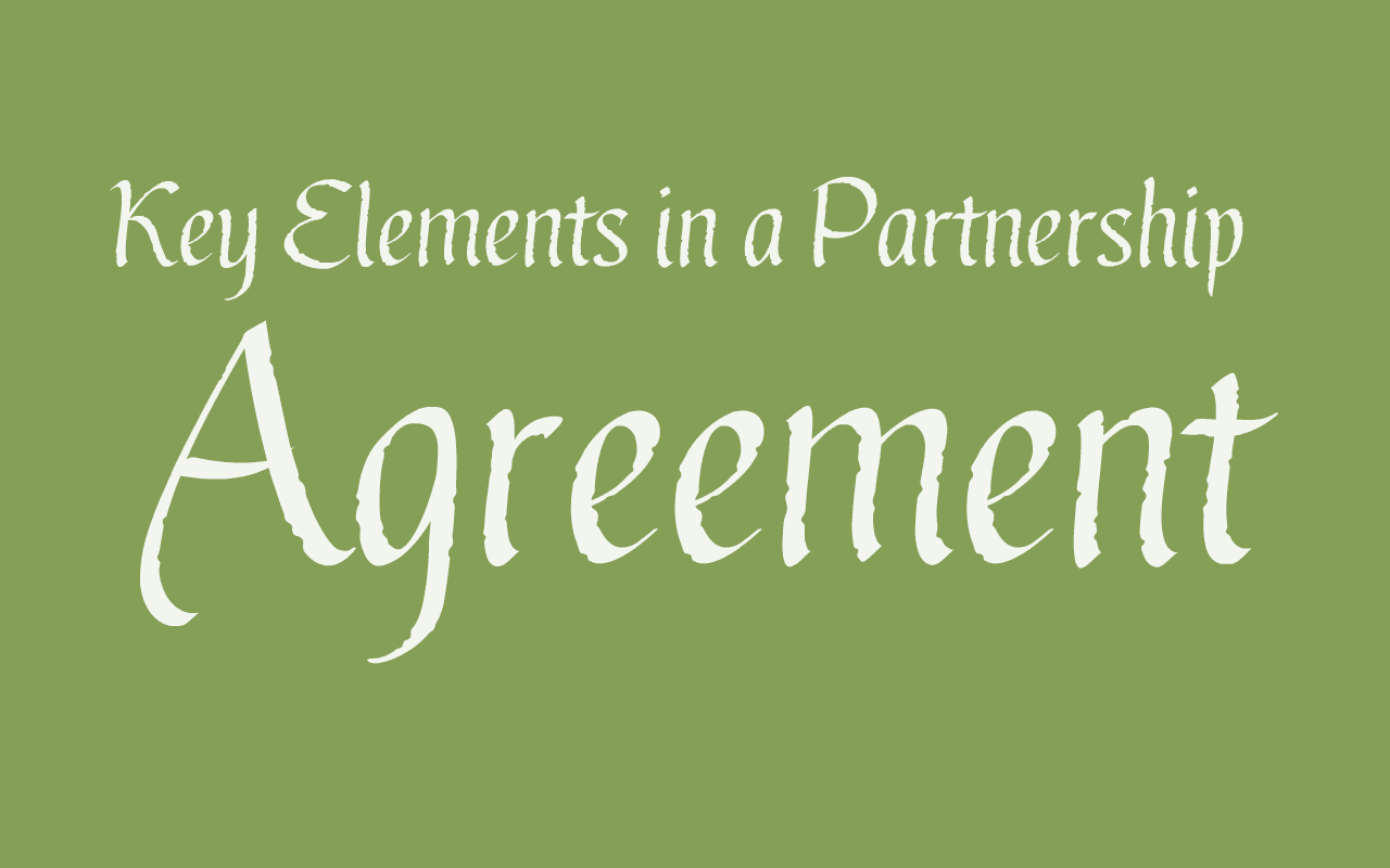 Key Elements In A Partnership Agreement How Is Partnership