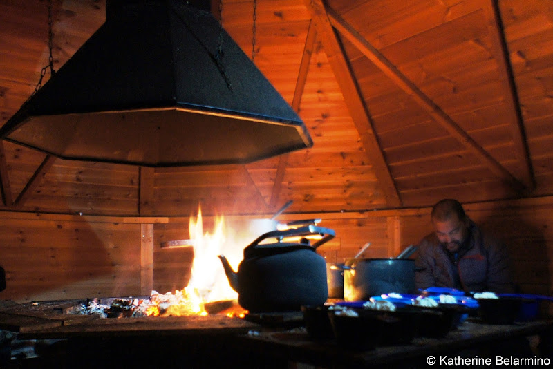 Dinner in Sami Cabin Outdoor Winter Activities in Sweden's Lapland