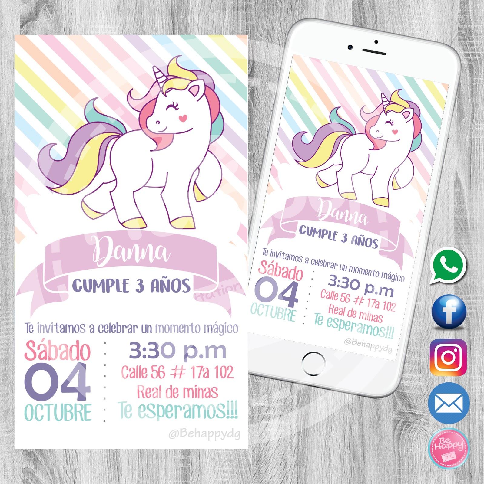 Mamá Decoradora Banderín Feliz Cumpleaños de Unicornio Gr
