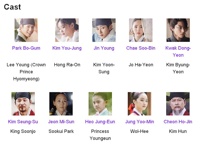 Moonlight Drawn by Clouds Korean Drama Cast