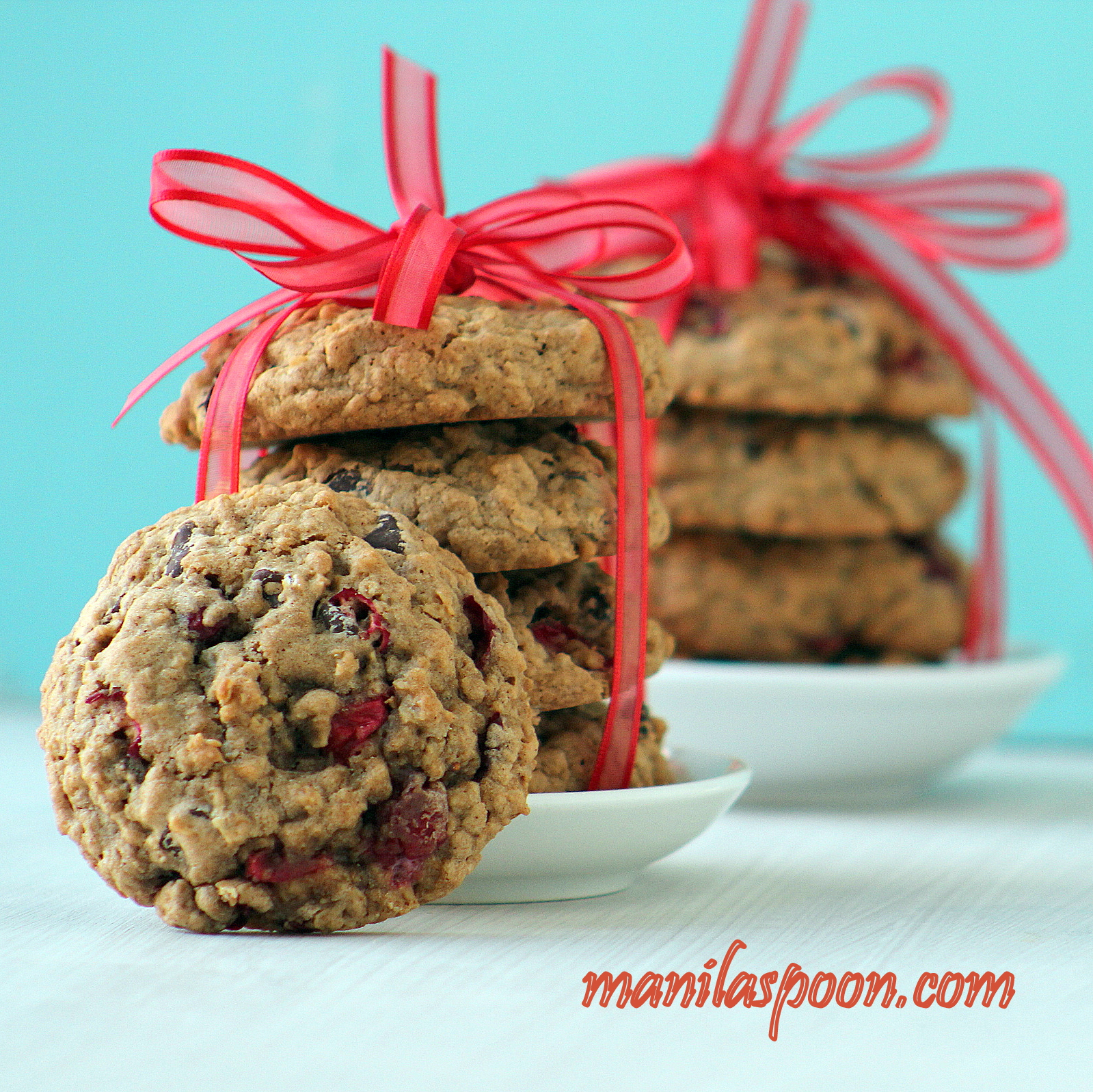 Fresh Cranberry Chocolate Chip Oatmeal Cookies