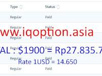"""Bukti Pembayaran IQ OPTION Terbaru, """"Total 27.8 Juta"""" 2018"""