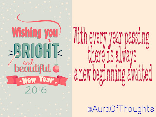 Aura of thoughts- New Year Resolution