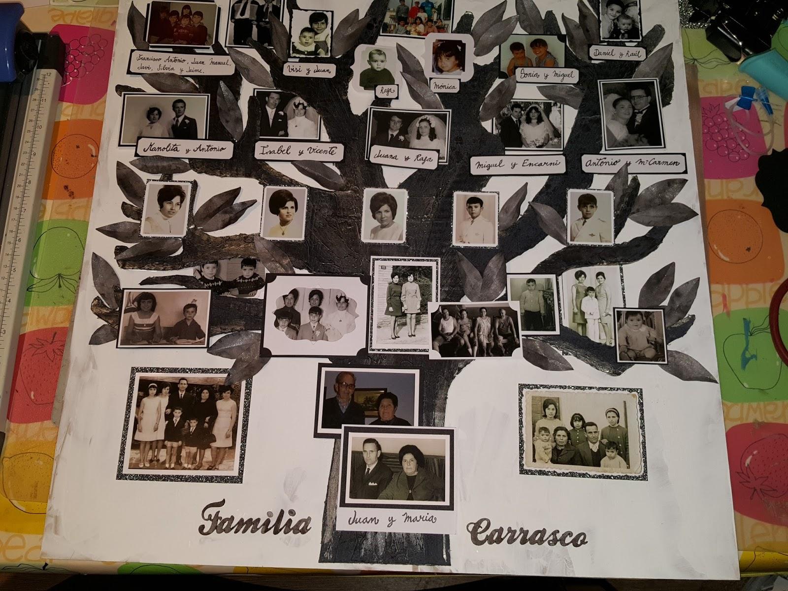 Scraps con amor: Como hacer un árbol genealógico B&W