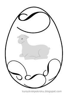 kolorowanki, szablony, jajka