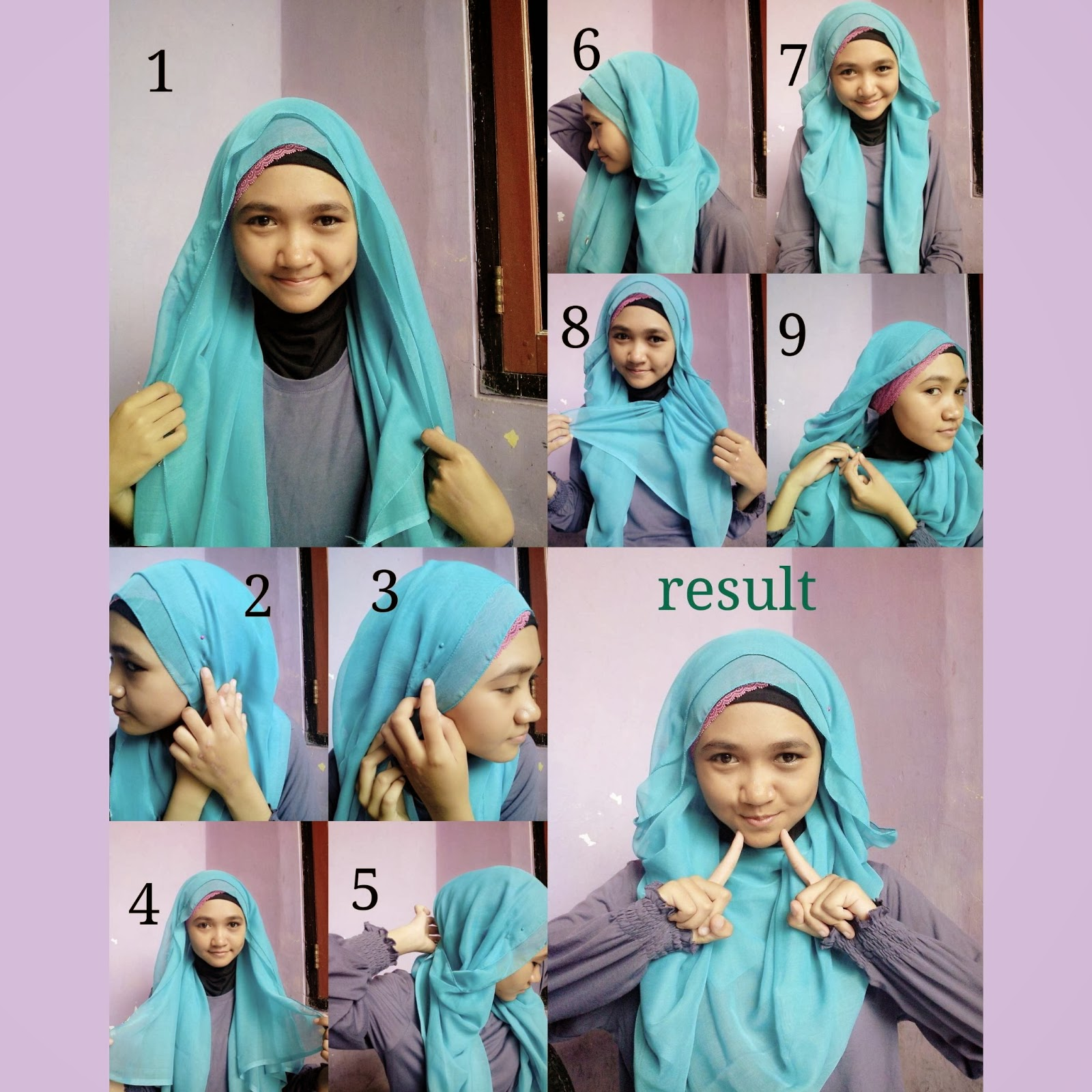 17 Tutorial Jilbab Segi Empat Formal Tutorial Hijab Terbaru Tahun 2017