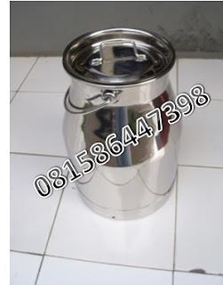 Jual Ember Perah Susu Aluminium, Milkcan Aluminium, Milkcan Stainless