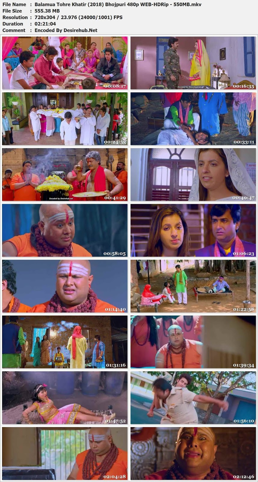Balamua Tohre Khatir (2018) Bhojpuri 480p WEB-HDRip – 550MB Desirehub