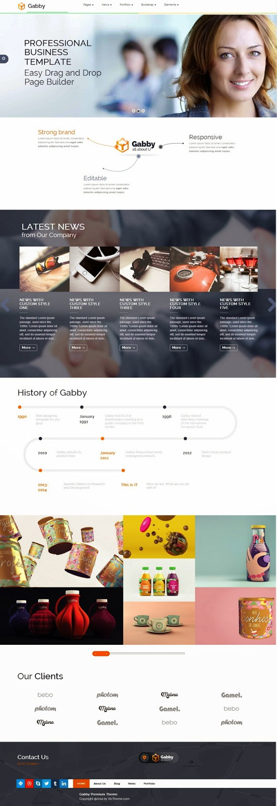 Gabby Unique Multipurpose WordPress Theme