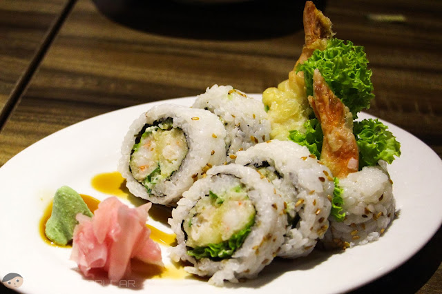 The forgettable and rather bland Shrimp Tempura Sushi Roll of Watami