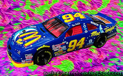 Bill Elliott #94 Mac Tonight Racing Champions 1/64 NASCAR diecast blog Jamie McMurray Darlington throwback 2016 1997 1998