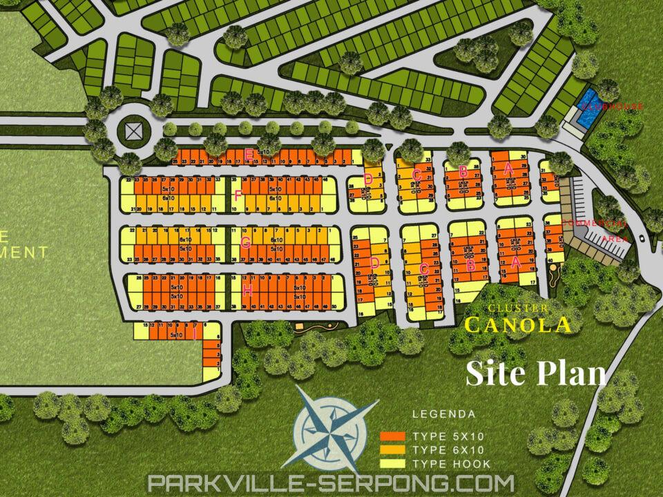Denah Tipe 73 Rumah Cluster Canola