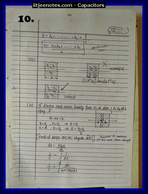 capacitors notes