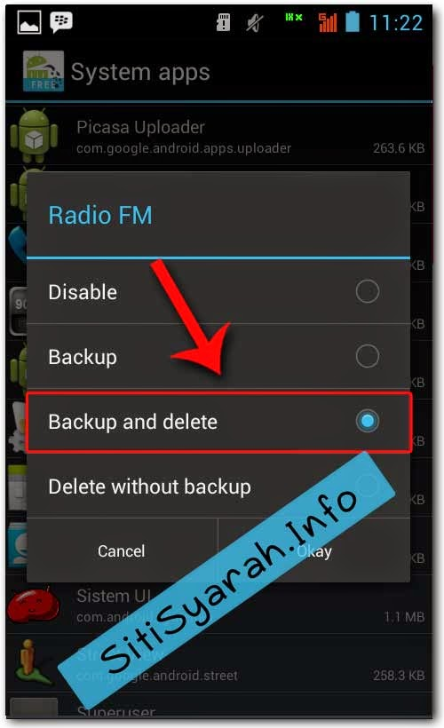 Hapus Aplikasi bawaan handphone android