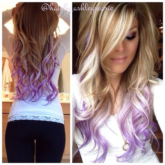 Colorful tips - dip dyed hair! - The HairCut Web