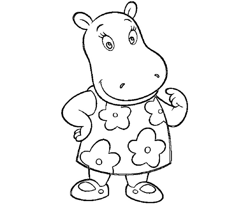 printable backyardigans tasha 4 coloring page