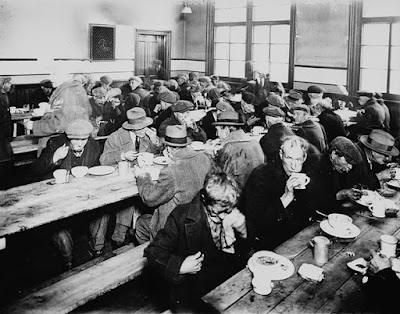 Climbing My Family Tree: Montreal Mission Soup Kitchen, 1931 (out of copyright in CA & USA)