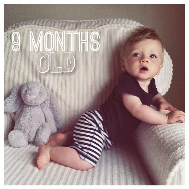 My sweet boy you are 9 months how does this happen i blink and you are a month older the number scares me more so than seeing you grow