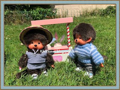 kiki monchhichi miniature accessoire poupée vintage eighties