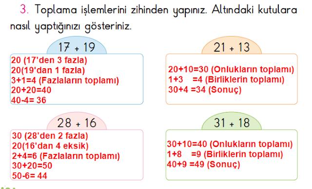 2. Sınıf Açılım Yayınları Matematik Ders Kitabı 106. Sayfa Cevapları