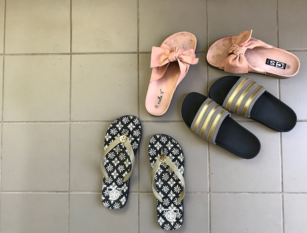 Sommarskor: flipflops, sandaler och tofflor