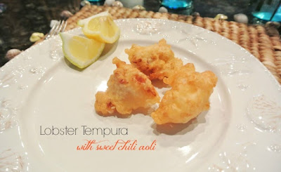 Lobster Tempura featured on the Easy Life Meal & Party Planning BBQ Block Party