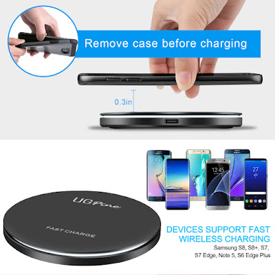UGpine Galaxy S8 Fast Wireless Charger giveaway US ONLY