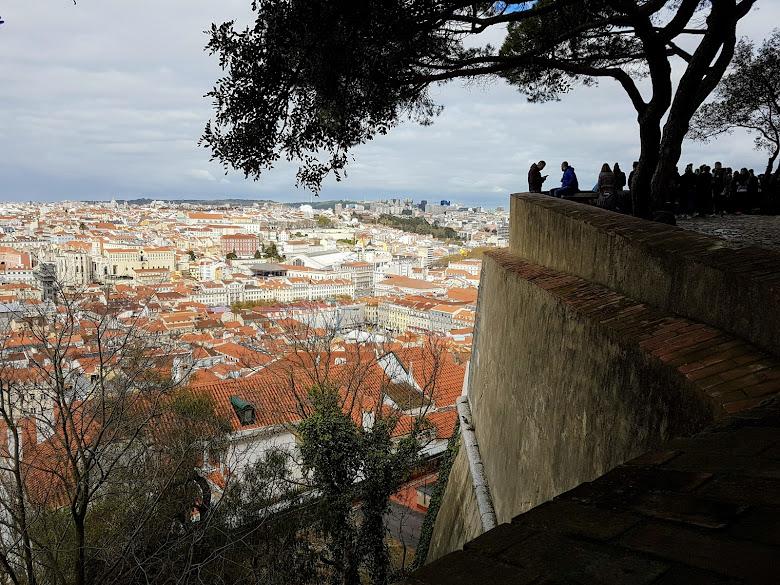 里斯本 (Lisbon) 市區一日遊,升降機與城堡眺望市區景色