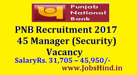 PNB Recruitment 2017