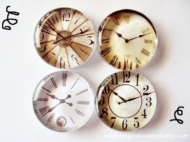 glass clock magnets