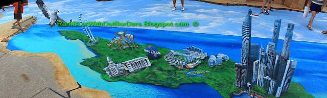 3D street painting, Sentosa, Singapore