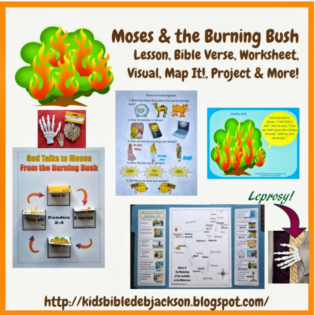 Bible Fun For Kids 2 2 Moses Amp The Burning Bush