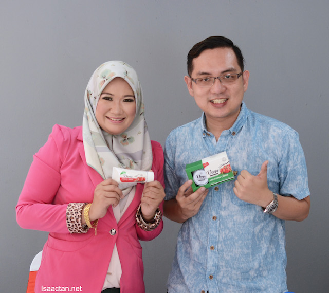 With DS Pesona Beauty spa and saloon founder and owner, Datin Nur Samsidar Mohd. Zain